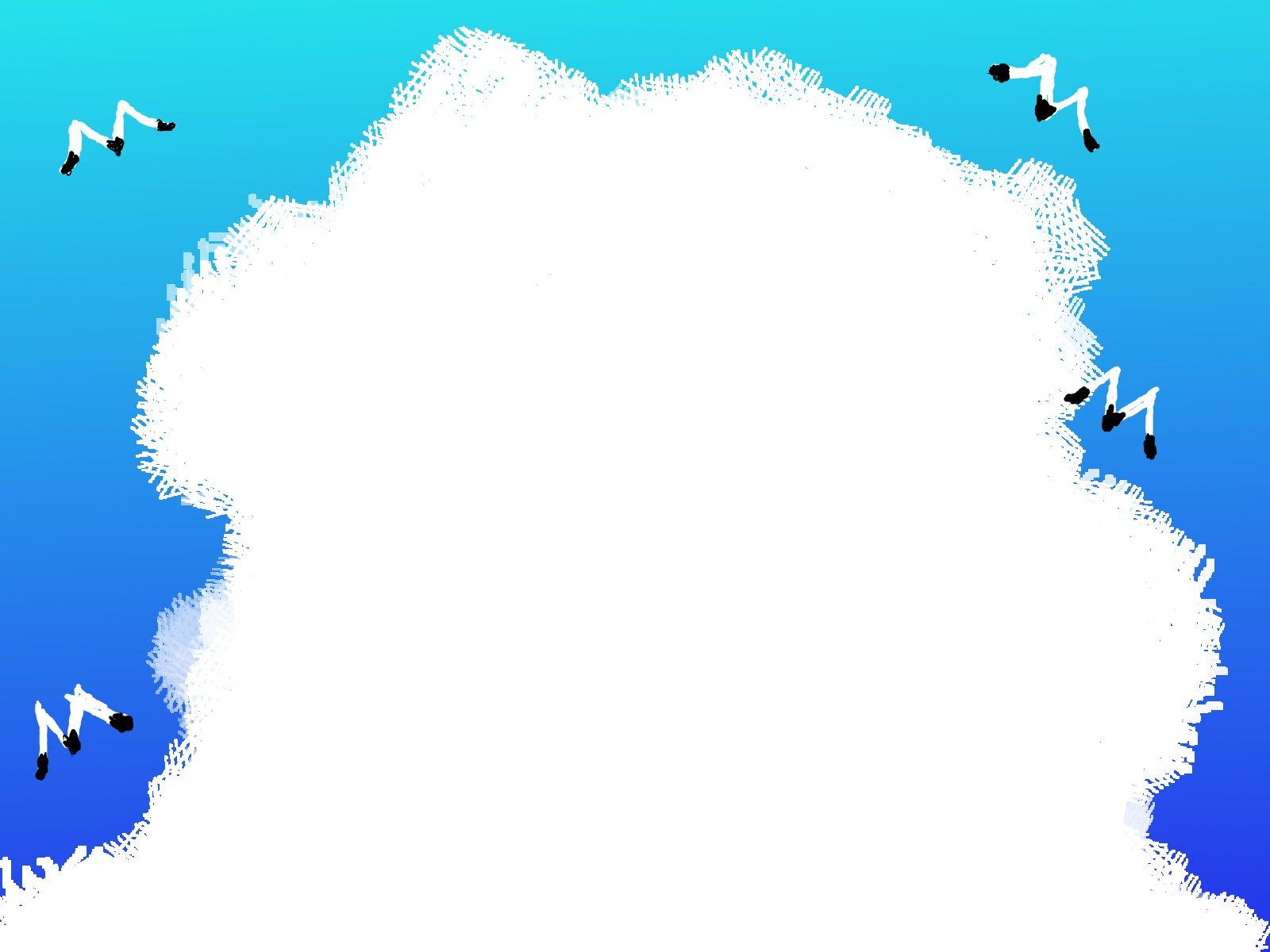 入道雲とかもめのイラストです ...